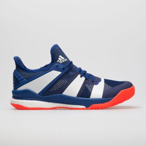 adidas Stabil X: adidas Men's Indoor, Squash, Racquetball Shoes Mystery Ink/White/Solar Red