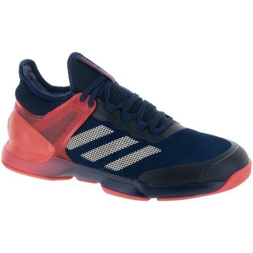 adidas adizero Ubersonic 2.0: adidas Men's Tennis Shoes Night Navy/Ecru Tint/Trace Scarlet