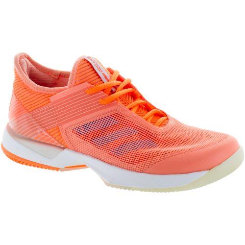 adidas adizero Ubersonic 3: adidas Women's Tennis Shoes Chalk Coral/Aero Blue
