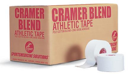 "1 1/2"" x 15 yds. White Cramer 250 Athletic Trainer's Tape - Case of 32 Rolls"
