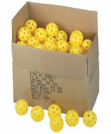 """11"""" Harder / Firmer Plastic Balls from Markwort - Set of 100"""