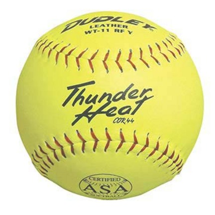 "11"" Thunder Heat WT11 Leather Softballs from Dudley Spalding - 1 Dozen"