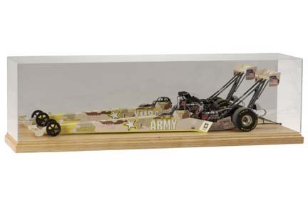 1/16 Scale Top Fuel Dragster Display Case with Wood Base from Clearwater Displays