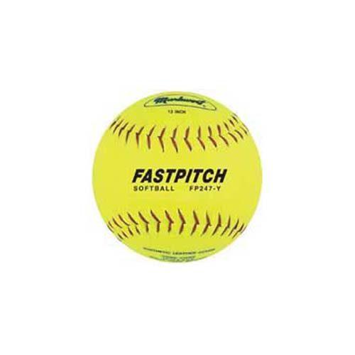"12"" PU Laminated Split Leather Fast Pitch Softballs from Markwort - 1 Dozen"