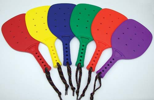 """13"""" Junior Size Colored Paddles (2 Sets of 6, Total of 12)"""