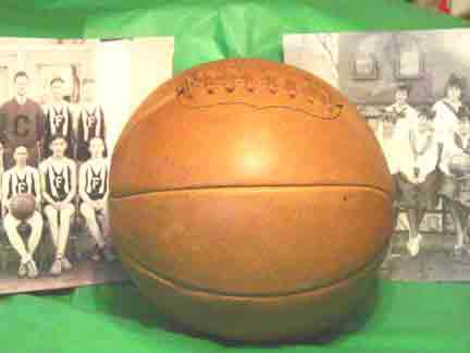 1890-1930's Antique Style Laced Leather Basketball from Past Time Sports