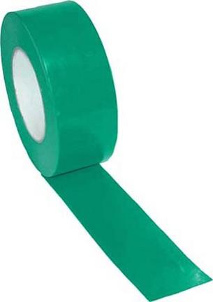"""2"""" Width Gym Floor Green Vinyl Plastic Marking Tape - Set of 10 Rolls"""