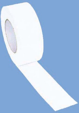 "2"" Width Gym Floor White Vinyl Plastic Marking Tape - Set of 10 Rolls"