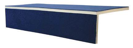 """2"""" x 3' x 6' Foam Bonded Carpet Pit Edging from American Athletic, Inc."""