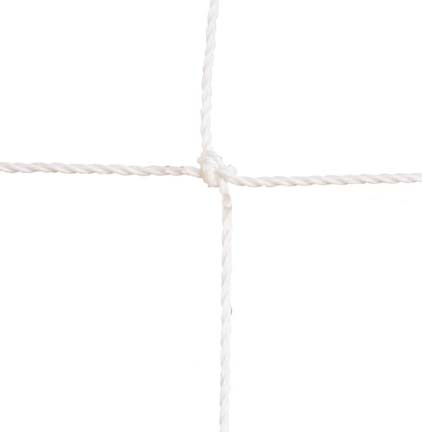 """3.5 mm Official Twisted 5"""" Square Polyethylene Netting...White"""
