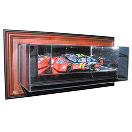 """4th Dimension"""" Case-Up 1 / 24 Scale Single Car Display Case in Mahogany Frame"""
