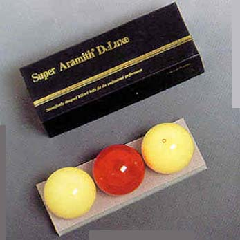 61.5 mm Super Aramith Deluxe Carom Billiard Ball Set (3 Ball Set) from Imperial International