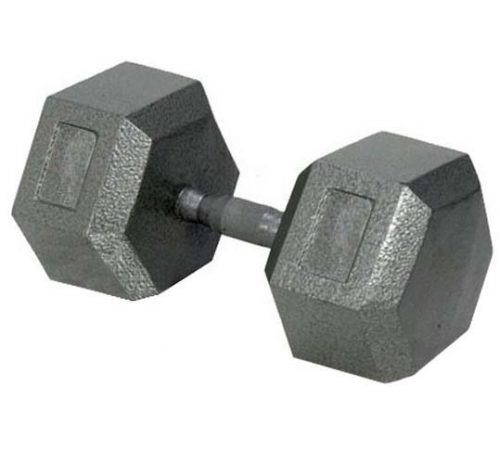 75 lbs. Solid Hex Dumbbell with Ergonomic Grip