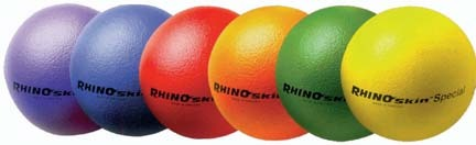 "8 1/4"" Rainbow Special Foam Balls from Rhino Skin (Set of 6)"