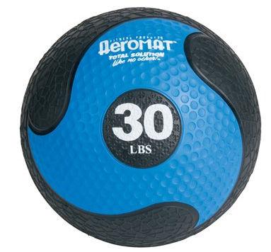 AGM Group 35870 Elite Deluxe Low Bounce Medicine Ball - Black-Blue 30 Lb