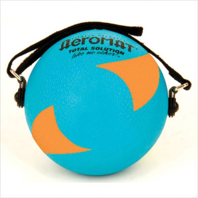 AGM Group 35943 5 in. Power Yoga-Pilates Weight Ball - Teal-Orange
