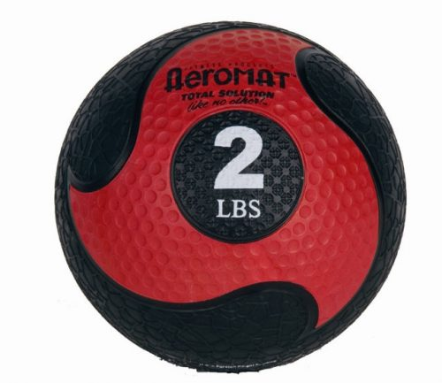 AGM Group 35964 7.75 in. Deluxe Medicine Ball - Black-Red