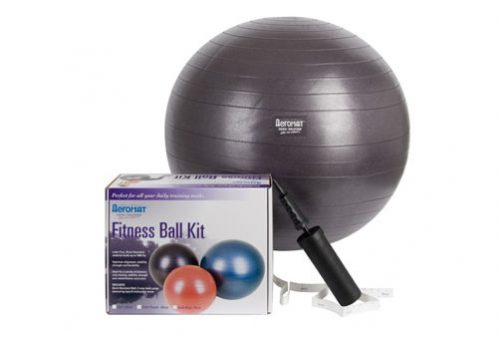 AGM Group 38112 65 cm Fitness Ball Kit - Dark Purple