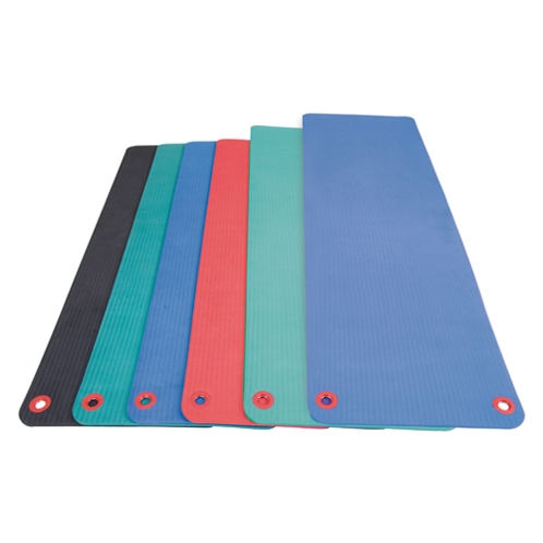 AGM Group 74601 48 in. Elite Workout Mat with Eyelets - Blue