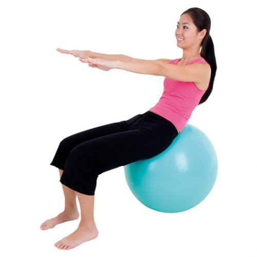 AGM Group 85503 75 cm EcoWise Fitness Ball - Ocean Blue