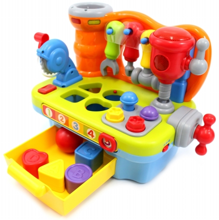 AZ Trading & Import PS907 Little Engineer Multifunctional Musical Learning Tool Workbench for Kids