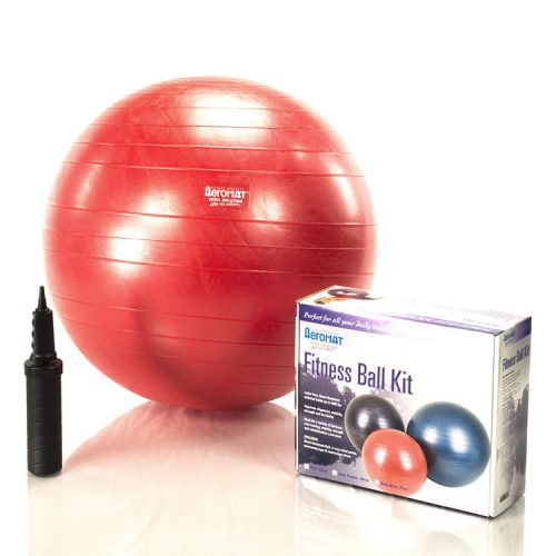 AeroMat 38111 Fitness Ball Kit with Measurement Tape & Pump Red