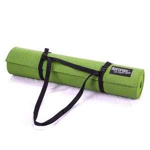 AeroMat 72323 0.25 x 24 x 72 in. Elite Yoga Pilates with Strap Kiwi