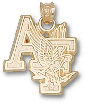 """Air Force Academy Falcons """"AF with Falcon"""" Pendant - 10KT Gold Jewelry"""
