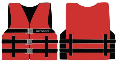 Airhead Youth General Life Jacket - Red