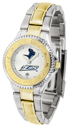Akron Zips Competitor Ladies Watch with Two-Tone Band