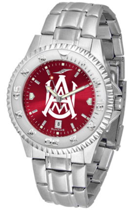Alabama A & M Bulldogs Competitor AnoChrome Men's Watch with Steel Band