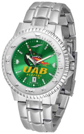 Alabama (Birmingham) Blazers Competitor AnoChrome Men's Watch with Steel Band
