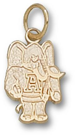 "Alabama Crimson Tide ""Al Elephant"" 1/2"" Charm - 14KT Gold Jewelry"