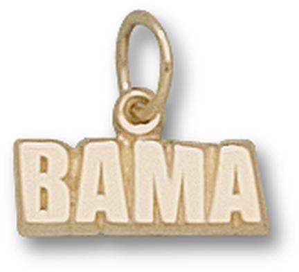 "Alabama Crimson Tide ""Bama"" 3/16"" Charm - 14KT Gold Jewelry"