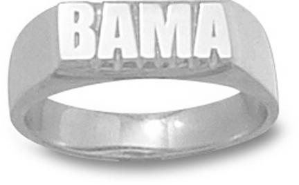 """Alabama Crimson Tide """"Bama"""" Ladies' Ring Size 6 1/2 - Sterling Silver Jewelry"""
