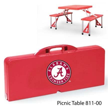 Alabama Crimson Tide Portable Folding Table and Seats