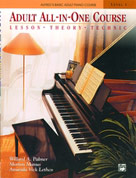 Alfred 00-5756 Basic Adult All-in-One Piano Course- Book 1 - Music Book