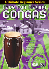 Alfred 00-905855 Ultimate Beginner Series- Have Fun Playing Hand Drums- Congas - Music Book