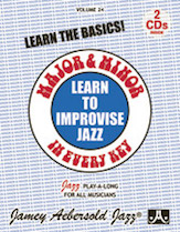 Alfred 24-V24DS Jamey Aebersold Jazz Volume 24 - Learn to Improvise Jazz - Major & Minor in Every Key