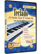 Alfred 62-BT2D 2 in 1 Bilingual- Teclado Vol. 2 - Music Book