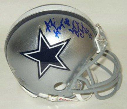 Alvin Harper Dallas Cowboys NFL Autographed Mini Helmet