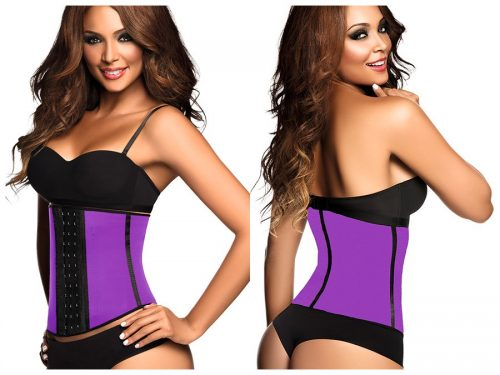 Ann Chery Womens Ann Chery 2013 2023 Latex Sport Workout Waist Cincher Corset Purple - Medium