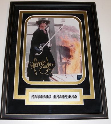 "Antonio Banderas Autographed ""Zorro"" 8"" x 10"" Custom Framed Photograph"
