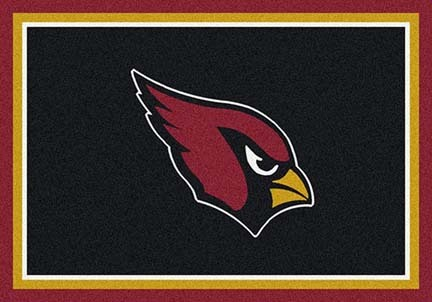 "Arizona Cardinals 3' 10"" x 5' 4"" Team Spirit Area Rug (Black)"