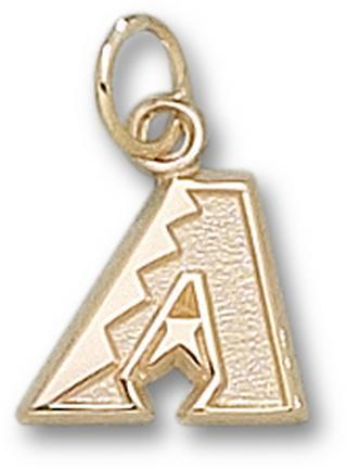"""Arizona Diamondbacks 3/8"""" """"A"""" Charm - 10KT Gold Jewelry"""