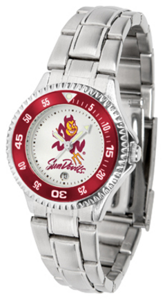 Arizona State Sun Devils Competitor Ladies Watch with Steel Band
