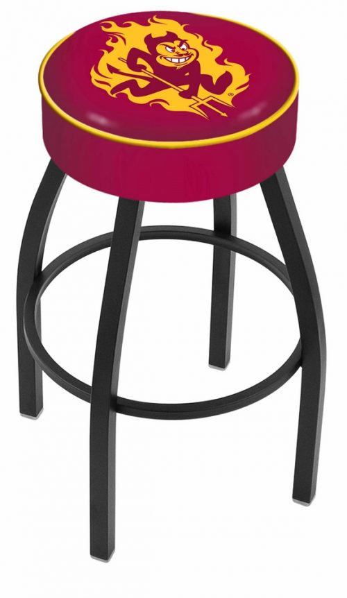 "Arizona State Sun Devils (L8B1) 25"" Tall Logo Bar Stool by Holland Bar Stool Company (with Single Ring Swivel Black Solid Welded Base)"