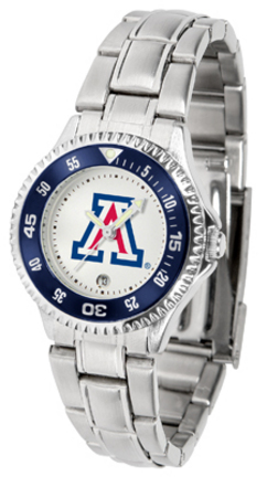 Arizona Wildcats Competitor Ladies Watch with Steel Band