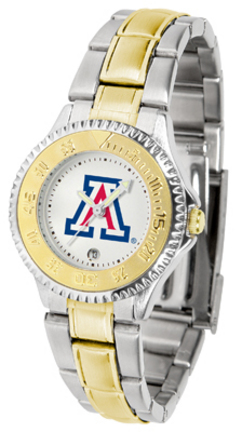 Arizona Wildcats Competitor Ladies Watch with Two-Tone Band