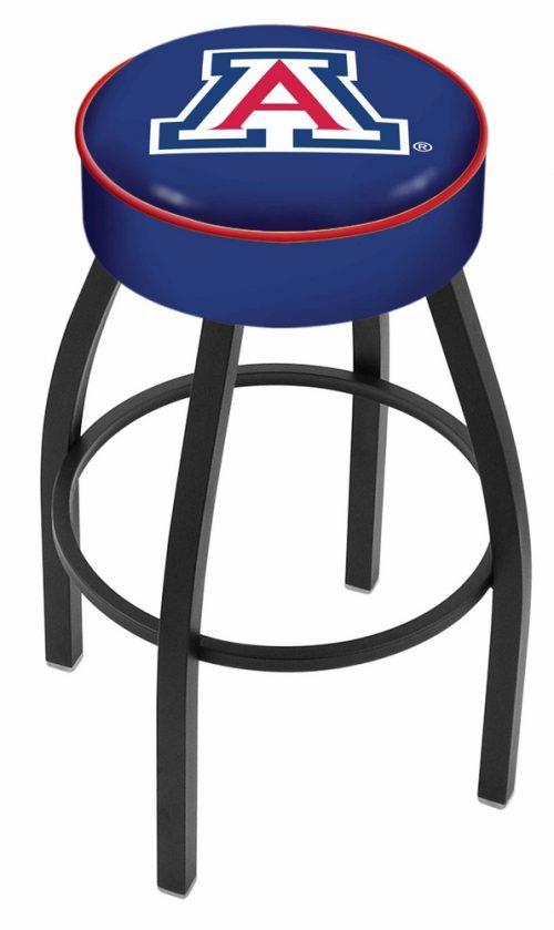 "Arizona Wildcats (L8B1) 30"" Tall Logo Bar Stool by Holland Bar Stool Company (with Single Ring Swivel Black Solid Welded Base)"
